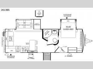 Rockwood Ultra Lite 2613BS Floorplan Image