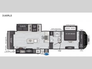 Sprinter Limited 3160RLS Floorplan Image