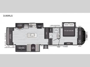 Sprinter Limited 3190RLS Floorplan Image