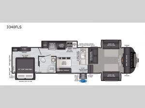 Sprinter Limited 3340FLS Floorplan Image