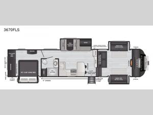 Sprinter Limited 3670FLS Floorplan Image