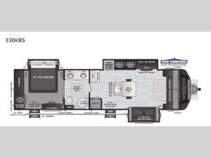 Sprinter Limited 330KBS Floorplan Image