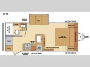 Shasta 20RB Floorplan Image