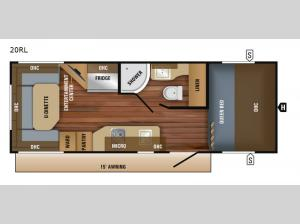 Jay Feather 7 20RL Floorplan Image