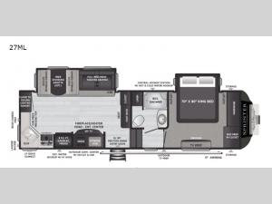 Sprinter 27ML Floorplan Image