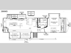 Rockwood Ultra Lite 2899KS Floorplan Image