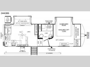 Rockwood Ultra Lite 2442BS Floorplan Image