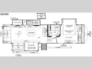 Rockwood Ultra Lite 2893BS Floorplan Image