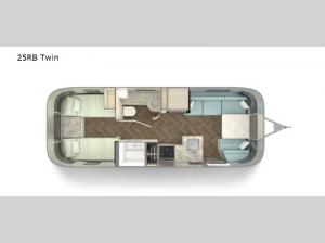 International 25RB Twin Floorplan Image