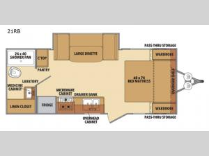 Shasta 21RB Floorplan Image