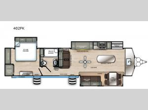 Sierra Destination Trailers 402FK Floorplan Image