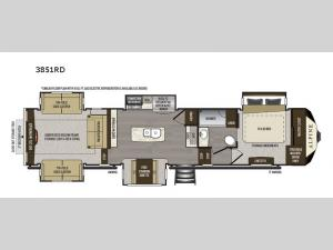 Alpine 3851RD Floorplan Image