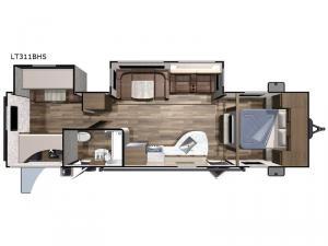 Open Range Light LT311BHS Floorplan Image