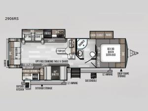 Rockwood Ultra Lite 2906RS Floorplan Image