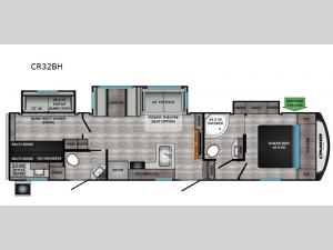 Cruiser Aire CR32BH Floorplan Image