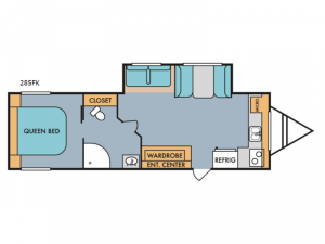 Retro 285FK Floorplan Image