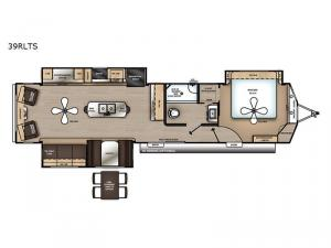 Catalina Destination Series 39RLTS Floorplan Image
