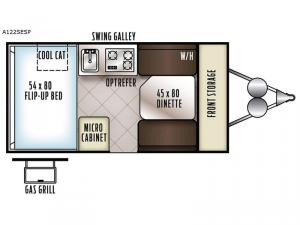 Rockwood Extreme Sports Hard Side A122SESP Floorplan Image