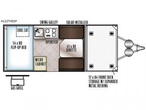 Rockwood Extreme Sports Hard Side A122THESP Floorplan Image