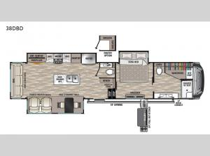 Cedar Creek 38DBD Floorplan Image