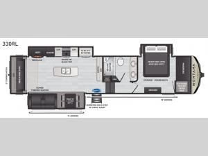 Montana High Country 330RL Floorplan Image