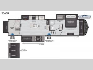 Montana High Country 334BH Floorplan Image
