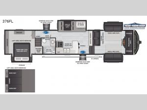 Montana High Country 376FL Floorplan Image