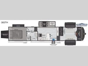 Montana High Country 383TH Floorplan Image