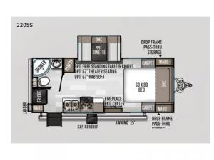 Rockwood Mini Lite 2205S Floorplan Image