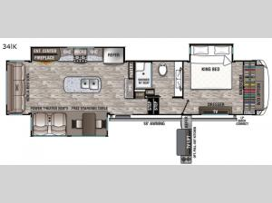 Cedar Creek Hathaway Edition 34lK Floorplan Image