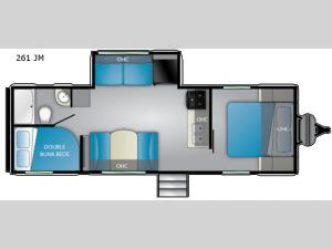 Trail Runner 261 JM Floorplan Image