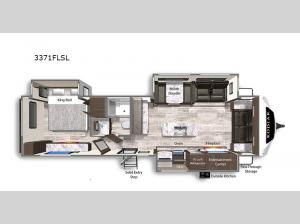 Kodiak Ultimate 3371FLSL Floorplan Image