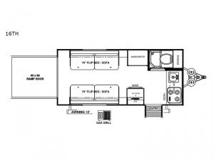 Rockwood Geo Pro 16TH Floorplan Image