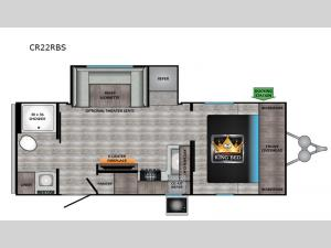 Cruiser Aire CR22RBS Floorplan Image