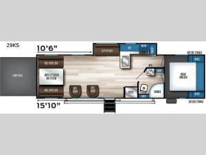 Vengeance Rogue 29KS Floorplan Image