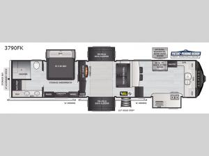 Alpine 3790FK Floorplan Image