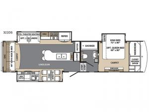 Blue Ridge Cabin Edition 322 DS Floorplan Image