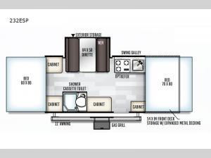Rockwood Extreme Sports 232ESP Floorplan Image