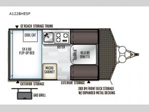 Rockwood Extreme Sports Hard Side A122BHESP Floorplan Image