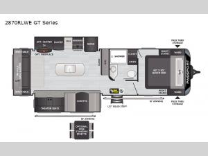 Passport 2870RLWE GT Series Floorplan Image