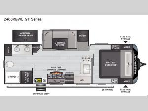 Passport 2400RBWE GT Series Floorplan Image