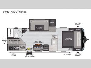 Passport 2401BHWE GT Series Floorplan Image