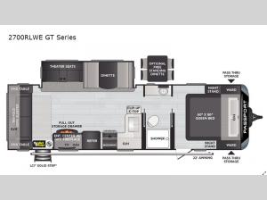 Passport 2700RLWE GT Series Floorplan Image
