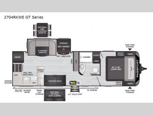 Passport 2704RKWE GT Series Floorplan Image