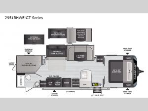 Passport 2951BHWE GT Series Floorplan Image