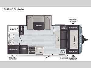 Passport 189RBWE SL Series Floorplan Image
