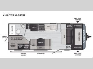 Passport 219BHWE SL Series Floorplan Image