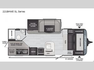 Passport 221BHWE SL Series Floorplan Image