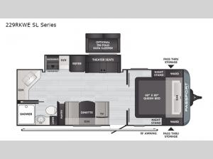 Passport 229RKWE SL Series Floorplan Image