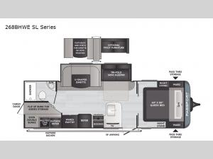 Passport 268BHWE SL Series Floorplan Image